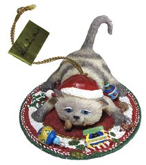 """Happiness"" Comical Cats Ornament"