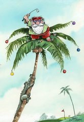 Santa in The Rough Christmas Cards