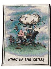 """King of The Grill"" Wall Hanging Tapestry"