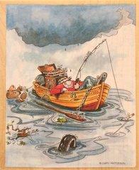 """Gone Fishing"" Art Stamp"