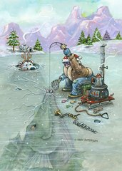 Ice Fishing Boxed Christmas Cards