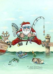 Missing The Boat Boxed Christmas Cards