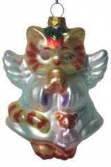 """Kitty Cupid"" Glass Ornament"
