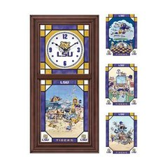 LSU Tigers Stained Glass Clock