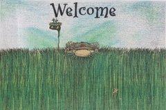 """""""Heavy Rough"""" Golf Welcome Door Mat"""