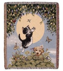 """Good Times"" Tapestry Throw"