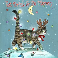 Eat Drink & Be Meowy Cat Magnet