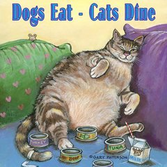 Dogs Eat - Cats Dine Magnet