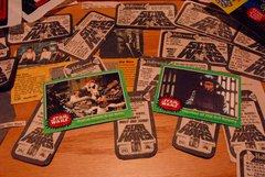 STAR WARS trading cards #245 & 205, Han, Leia, Luke, Chewbacca, trash compactor, Empire personnel ORIGINAL