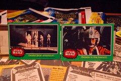 STAR WARS 1977 trading cards #243 & 242, Rebel Pilot, Stormtroopers ORIGINAL