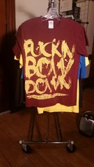 BORN OF OSIRIS f**kin bow down maroon T-shirt SMALL raided from Kodie Testa of Narrow Hearts