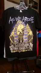 AS WE AROSE Zombie Egypt print black T-shirt SMALL raided from Kodie Testa of Narrow Hearts