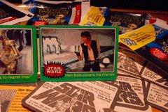 STAR WARS 1977 trading cards #223 & #220 Han Solo, R2-D2, C-3PO ORIGINAL