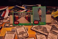 STAR WARS 1977 trading cards #255 & #209 Luke, Han, Leia, Chewie, Rebel Troops ORIGINAL