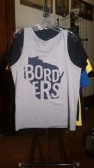 BORDERS Wisconsin grey tank top MEDIUM raided from Kodie Testa of Narrow Hearts