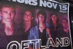 LOFTLAND large format HUGE 1-of-a-kind concert poster 11/15/12