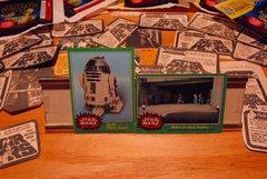 STAR WARS 1977 trading cards #253 & #201, R2-D2, Mos Eisley Raid ORIGINAL