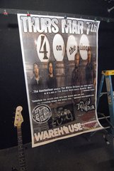 THE 4 ON THE FLOOR large format HUGE 1-of-a-kind concert poster 03/17/13