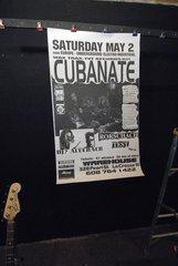 CUBANATE / RORSCHACH TEST / DJ ? ACUCRACK 1998 concert poster WAREHOUSE