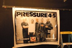 THE USED / AUDIOVENT / PRESSURE 4-5 2002 first tour 1-of-a-kind huge poster