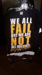 """THE COLOR MORALE black """"We All Fail But We Are Not All Failures"""" SMALL"""