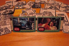 STAR WARS 1977 trading cards #214 & #232 Luke, Leia, Stormtrooper ORIGINAL
