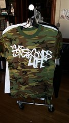 LAST TEN SECONDS OF LIFE camouflage T-shirt raided from Kodie Testa of Narrow Hearts