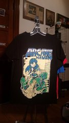 ARCANE HAVEN megaman print black T-shirt SMALL raided from Kodie Testa of Narrow Hearts