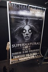 MICHALE GRAVES large format 1-of-a-kind CONCERT POSTERS 02/13/14