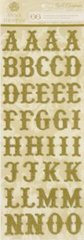 Anna Griffin Chipboard Alphabet Stickers Gold (Cecile Collection)