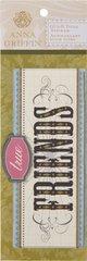 Anna Griffin 3-D Title Stickers True Friends (Francesca Collection)