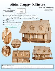 Laser Dollhouse Designs - Alisha Country