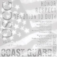 Creative Imaginations U.S. Coast Guard Transparency (Signature Military Collection)