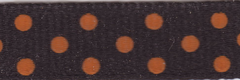 Celebrate It Ribbon 3/8 Inch Black and Orange Dot Grosgrain Ribbon