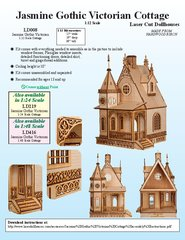 Laser Dollhouse Designs - Jasmine Gothic Victorian Cottage