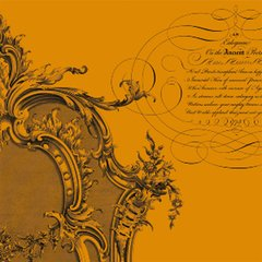 Anna Griffin Orange Flourish Frame (Esmerelda Collection)