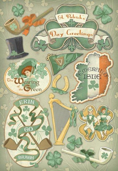 Karen Foster Erin Go Bragh Cardstock Stickers (St. Patrick's Day Collection)