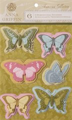 Anna Griffin 3-D Stickers Butterflies (Francesca Collection)