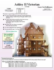 Laser Dollhouse Designs - Ashley Victorian