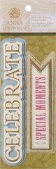 Anna Griffin 3-D Title Stickers Celebrate (Francesca Collection)