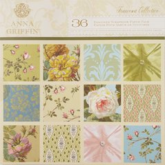 Anna Griffin 36 Designer Scrapbook Paper Pack (Francesca Collection)
