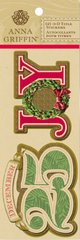 Anna Griffin 3-D Title Stickers Joy (Calisto Christmas Collection)