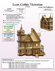Laser Dollhouse Designs - Leon Gothic Victorian Mansion