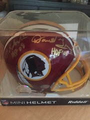 Multi-Signed Art Monk and Darrell Green Hall of Fame Washington Redskins Autographed Riddell Mini Football Helmet