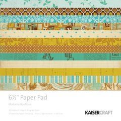 KaiserCraft 6.5 x 6.5 Paper Pad (Madame Boutique Collection)
