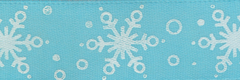 Celebrate It Ribbon 5/8 Inch Blue & White Snowflake Satin Ribbon