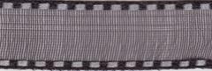 Celebrate It Ribbon 3/8 Inch Black and Silver Sheer Satin Ribbon