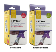 "Xyron 1.5"" or 150 Sticker Machine Refills"