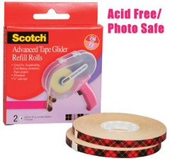 3M Scotch Advanced Tape Glider Refill Rolls
