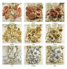 Prima Flowers Mulberry Paper (Precious Metals Collection)